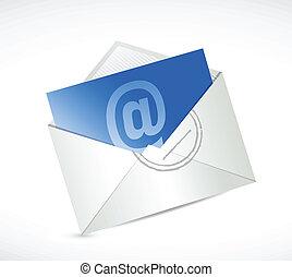 nous, contact, conception, illustration, message, email
