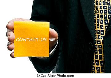 nous contacter, autocollant