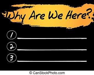 nous, liste, pourquoi, ici, vide