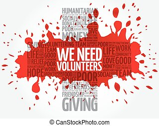nous, mot, collage, besoin, volontaires, nuage