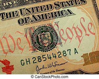 nous, note, dollar, dix personnes