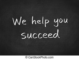 nous, réussir, aide, vous