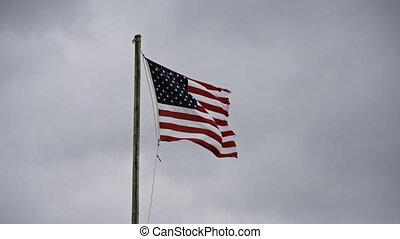 nous, s'agiter, drapeau, lambeaux, slomo