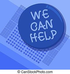 nous, service, donner, help., texte, conseil, soutien, nous, signe, laisser, boîte, photo, conceptuel, vous, projection, assistance, solutions