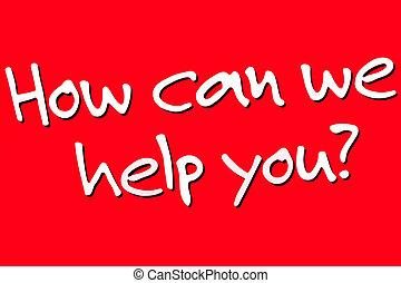 nous, signe aide, comment, boîte, vous