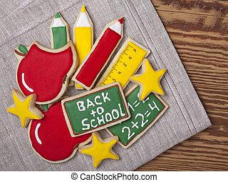 nouveau école, biscuits