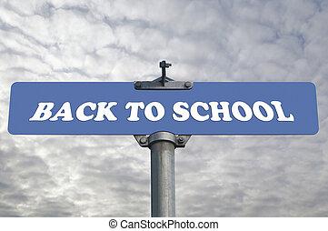 nouveau école, panneaux signalisations
