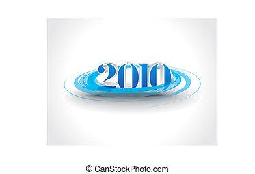 nouveau, 2010, fond, année