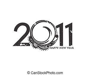 nouveau, 2011, fond, année