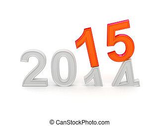 nouveau, 2015., heureux, année