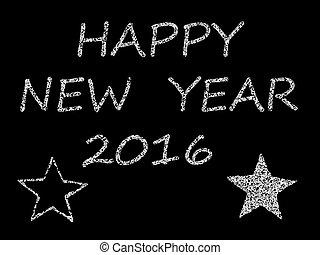 nouveau, 2016, félicitation, heureux, année