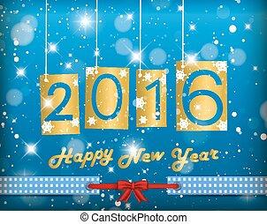 nouveau, 2016, heureux, année