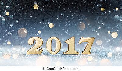 nouveau, 2017, heureux, -, année