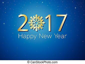 nouveau, 2017, heureux, conception, année