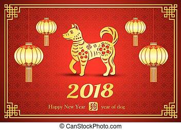 nouveau, 2018, chinois, année