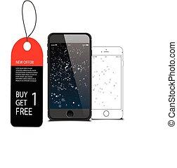 nouveau, 5, pomme, iphone