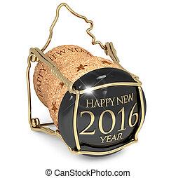 nouveau, année, fête