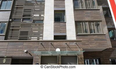 nouveau, appartement, highrise, moderne, bloc