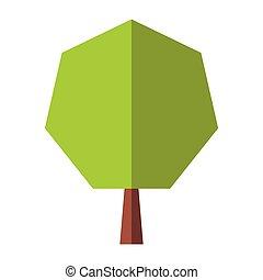 nouveau, arbre, plat, icône