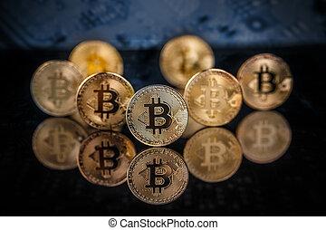 nouveau, argent virtuel, concept