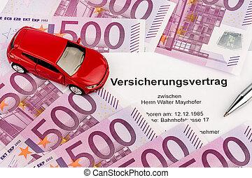 nouveau, assurance, contrat, voiture