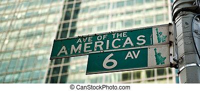 nouveau, avenue, york, amériques