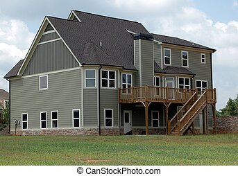 nouveau, bâtiment, maison