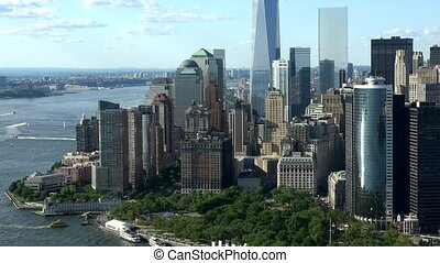 nouveau, bâtiments, york, bureau, ville