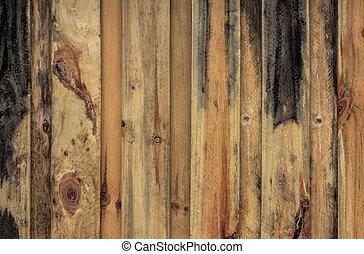 nouveau, barrière bois, intimité
