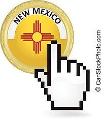 nouveau, bouton, déclic, mexique