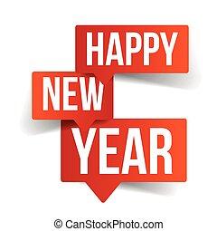 nouveau, bulles, heureux, parole, année