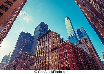 nouveau, carrée, york, ville