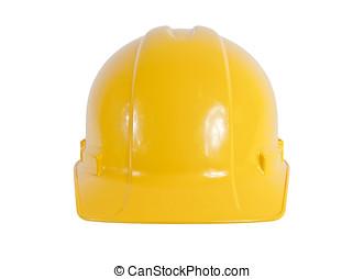 nouveau, chapeau dur jaune