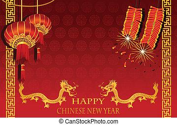 nouveau, chinois, année
