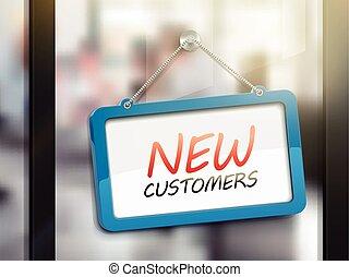 nouveau, clients, signe