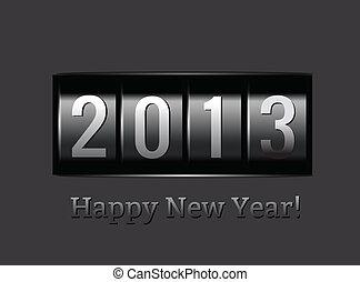 nouveau, compteur, 2013, année