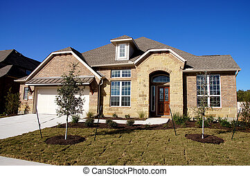 nouveau, construction, bungalow, maison