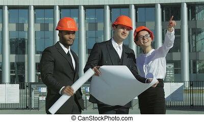 nouveau, construction, centre, business