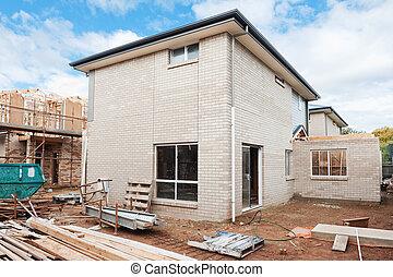 nouveau, construction, maison