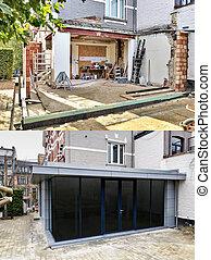 nouveau, construction, moderne, extension