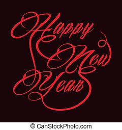 nouveau, créatif, salutation, année