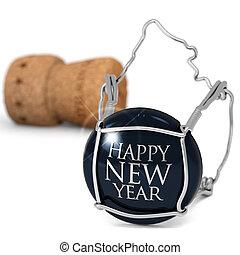 nouveau, dîner, veille, année