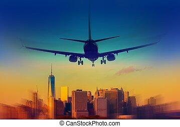 nouveau, destination, york, ville
