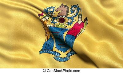 nouveau, drapeau état, jersey, boucle
