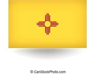 nouveau, drapeau état, mexique