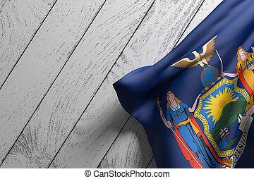 nouveau, drapeau état, york