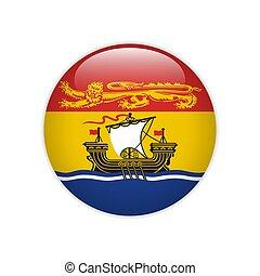 nouveau, drapeau, brunswick, bouton
