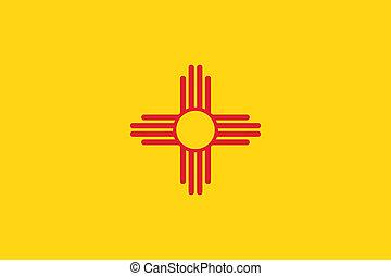nouveau, drapeau, mexique