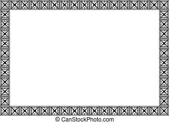 nouveau, eenvoudig, frame, vector, kunst