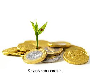 nouveau, euro, croissance